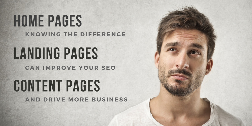 The Difference Between A Landing Page, Content Page and a Home Page