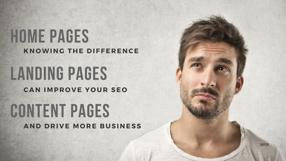 Difference Between Home Page Landing Page Content Page