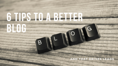6 tips for better blog posts