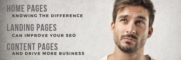 Difference Between Landing Pages, Home Pages and Content Pages